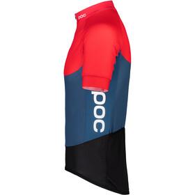 POC Essential Road Maillot ligero Hombre, lead blue/prismane red